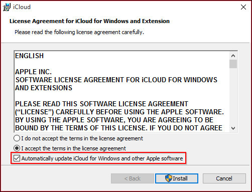client icloud per windows