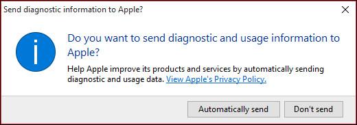 comunicare con apple per icloud