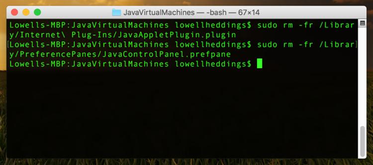 Disinstallare Java su Mac OS X
