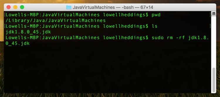 Eliminare Java JDK