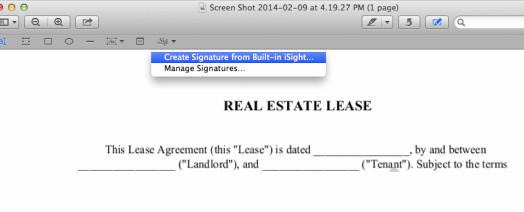 Come Firmare un PDF su Mac OS X con Anteprima