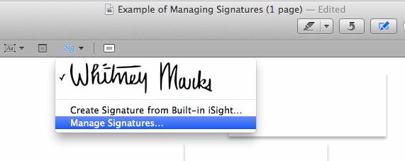 modificare la firma