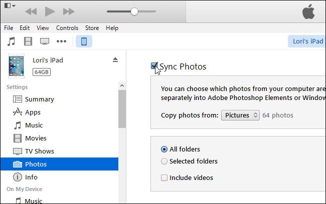 sincronizzazione foto su iphone