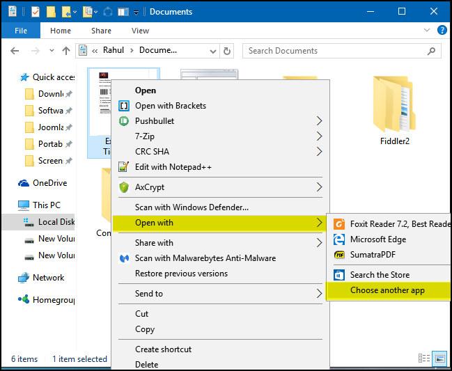 Cambiare il Programma di Default per Aprire PDF su Windows 10