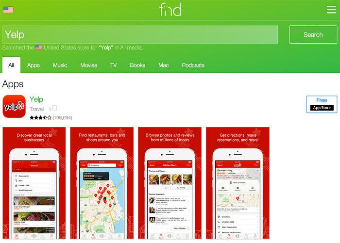 fnd per la ricerca di app