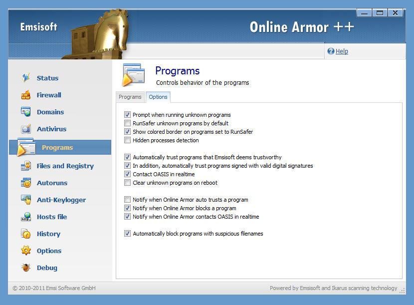 Emsisoft Online Armor Free