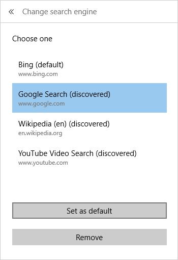 Aggiungere altri motori di ricerca su Edge