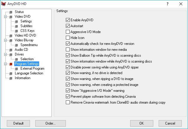 Creare una ISO con AnyDVD