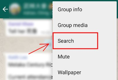 Funzione di ricerca su Whatsapp