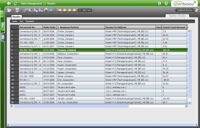I migliori 5 software gestionali gratuiti - Openbravo