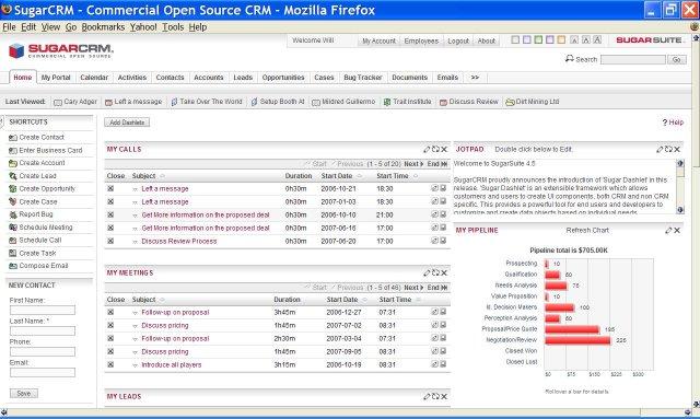 I migliori 5 software gestionali gratuiti - SugarCRM