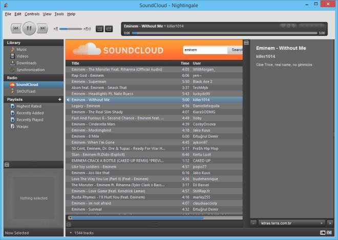 Player Audio Gratis per Mac OS X Nightingale