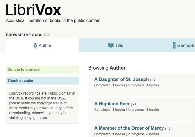 Scaricare audiolibri gratuiti in italiano su Librivox