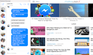 Facebook Messenger per browser Firefox