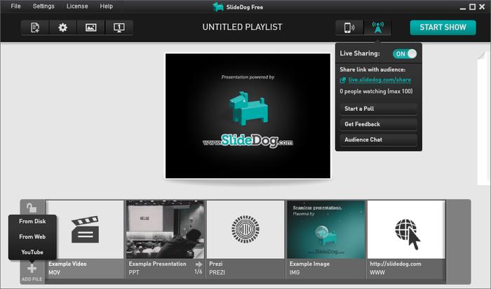 SlideDog alternativa gratis a PowerPoint