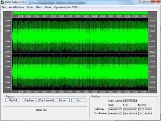 Eliminare la Voce dalle Canzoni con Vocal Reducer