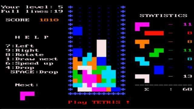 Migliori giochi DOS - Tetris