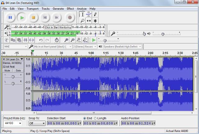 Registrare l'audio con Audacity