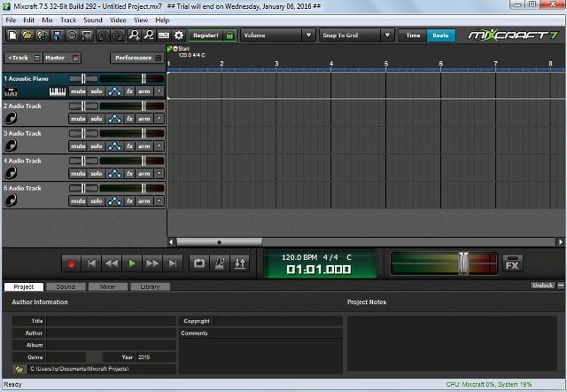 Registrare l'audio con Mixcraft