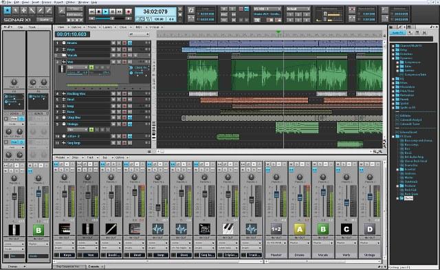 Registrare l'audio con Sonar