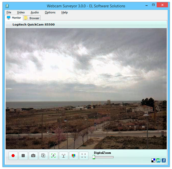 Registrare video dalla webcam con Webcam Surveyor