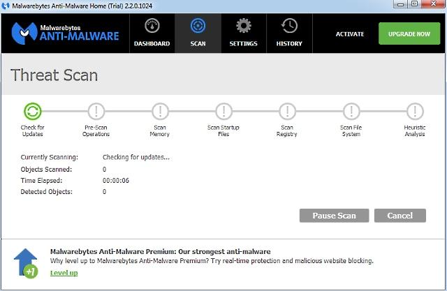 Rimuovere gli spyware con Malwarebytes Anti-Malware