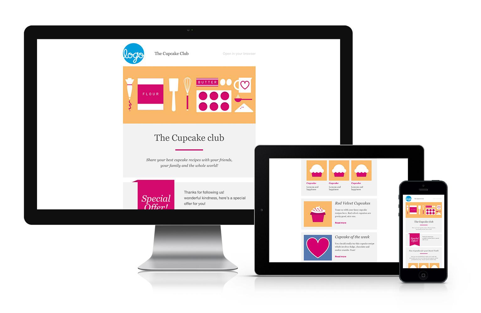 Template per Newsletter da Scaricare Gratis - Cupcake