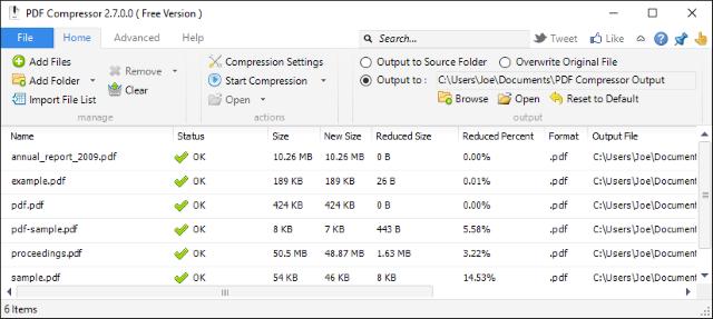 Comprimere File PDF Online o su Windows Gratis - PDF Compressor