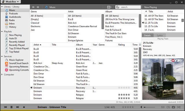 Le Migliori 5 Alternative a Winamp per Windows - MusicBee