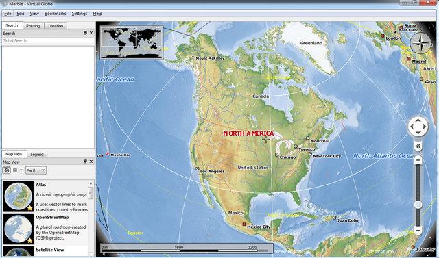 Programmi Simili a Google Earth da Usare in Alternativa - Marble