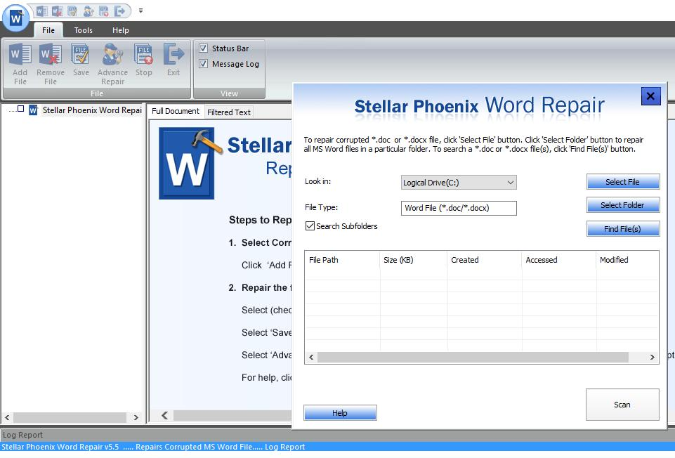 Recuperare File Corrotti Word con Repair Toolkit