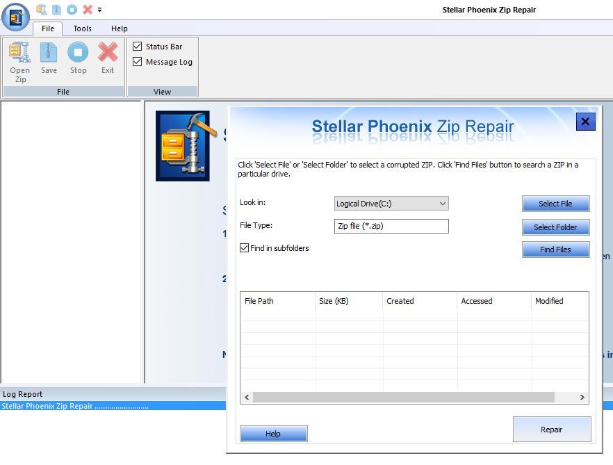 Recuperare File Corrotti ZIP con Repair Toolkit