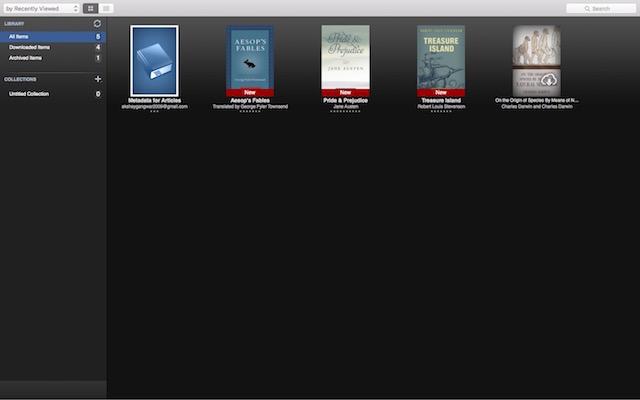 Migliori eBook Reader Gratis per Mac - Kindle App