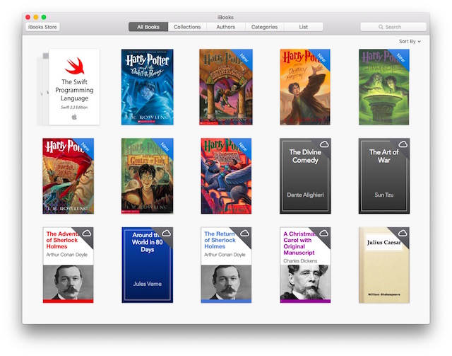 Migliori eBook Reader Gratis per Mac - iBooks