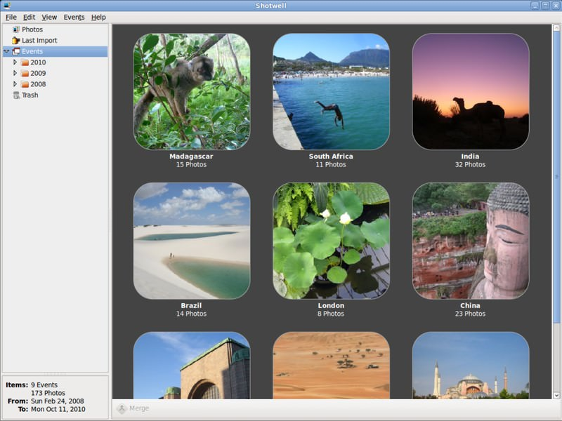 gestione foto su linux