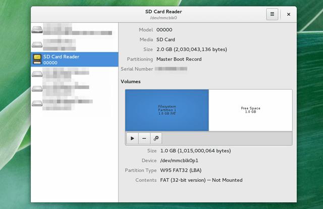 creare una partizione sd su linux