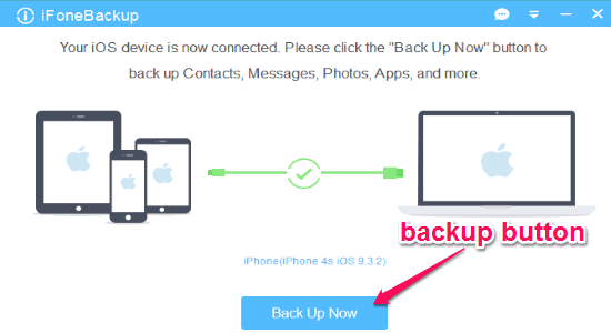 backup su pc dell'iphone