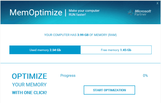 Ottimizzare Memoria RAM su Windows 10 - MemOptimize