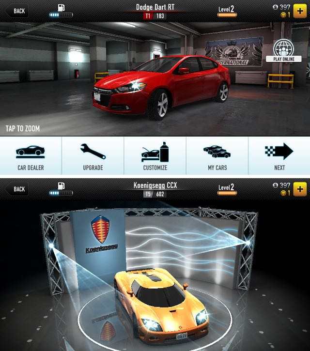 Giochi racing per iphone