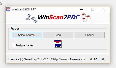 scanner per windows 10