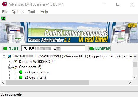 5 Programmi Port Scanner per Windows 10 per Trovare Porte Aperte - Advanced LAN Scanner