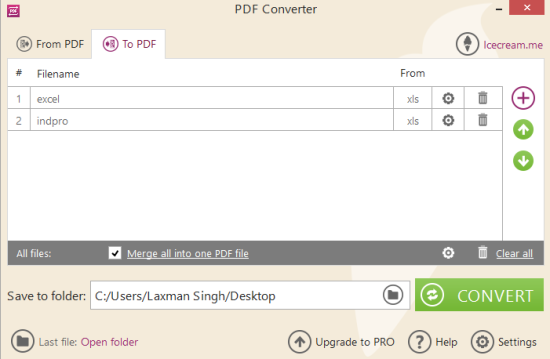 3 Programmi Gratis per Convertire Più File Excel in PDF - Icecream PDF Converter