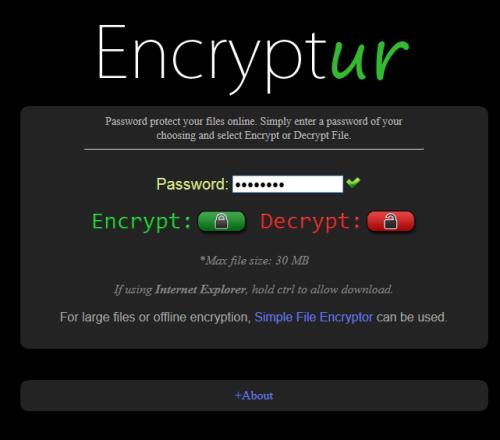 sito per crittografare i file