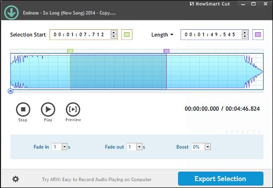 visualizzazione spettro file audio