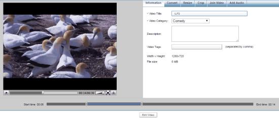 modificare video online