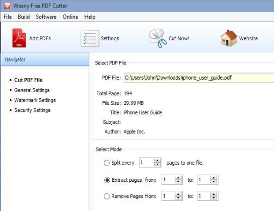 pdf cutter per unire e dividere i pdf