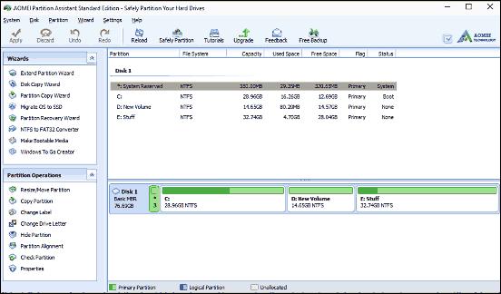 formattare e partizionare un hard disk
