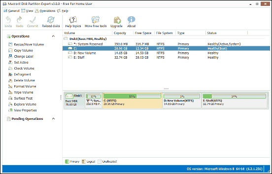 partition manager su windows 10
