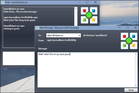 Le Migliori 5 LAN Messenger per Chattare sulla Rete Locale - Mossawir LAN Messenger