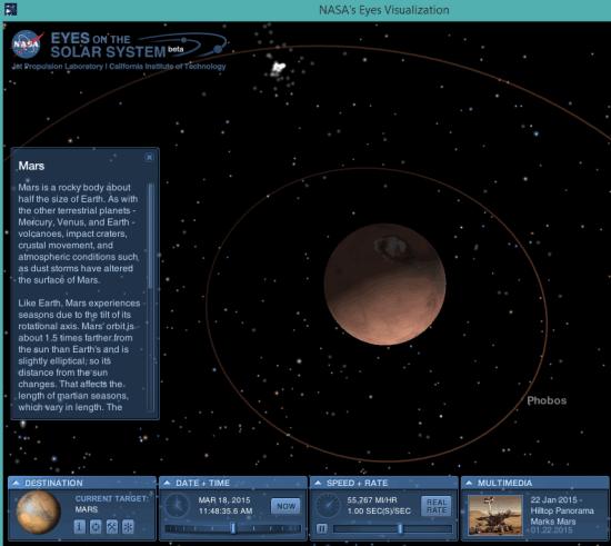 Simulatore 3D del Sistema Solare